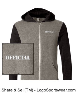 Alternative Apparel Rocky Color-Blocked Full-Zip Mens  Hoodie Design Zoom